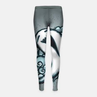 Imagen en miniatura de The Little Laughing Ghost Leggings para niña, Live Heroes
