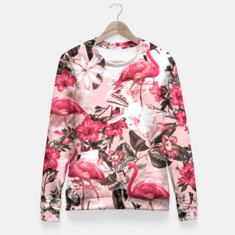 Thumbnail image of Floral and Flemingo III Pattern Fitted Waist Sweater, Live Heroes