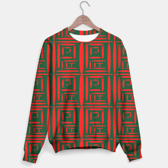 Thumbnail image of (Green) Chinese Print  Sweater, Live Heroes