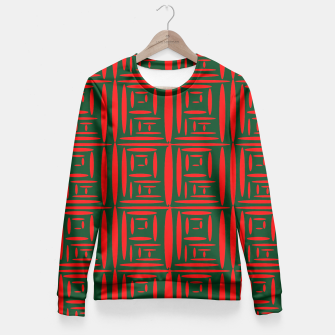 Thumbnail image of (Green) Chinese Print  Fitted Waist Sweater, Live Heroes