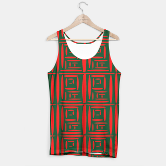 Thumbnail image of (Green) Chinese Print  Tank Top, Live Heroes