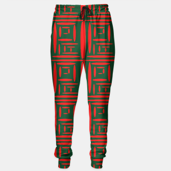 Thumbnail image of (Green) Chinese Print  Sweatpants, Live Heroes