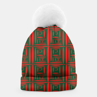 Thumbnail image of (Green) Chinese Print  Beanie, Live Heroes