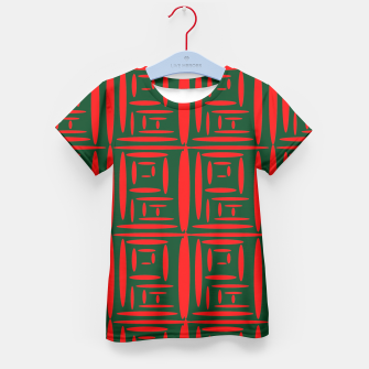 Thumbnail image of (Green) Chinese Print  Kid's T-shirt, Live Heroes
