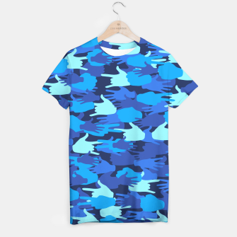 Thumbnail image of Handy Camo BLUE T-shirt, Live Heroes