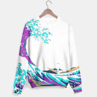 Thumbnail image of Solo Jazz-Colorized Great Wave Unisex sweater, Live Heroes