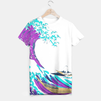 Thumbnail image of Solo Jazz-Colorized Great Wave T-shirt, Live Heroes