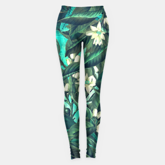 Thumbnail image of white flowers Leggings, Live Heroes
