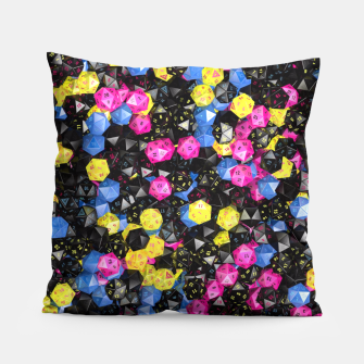 Thumbnail image of D20 CMYK Pillow, Live Heroes