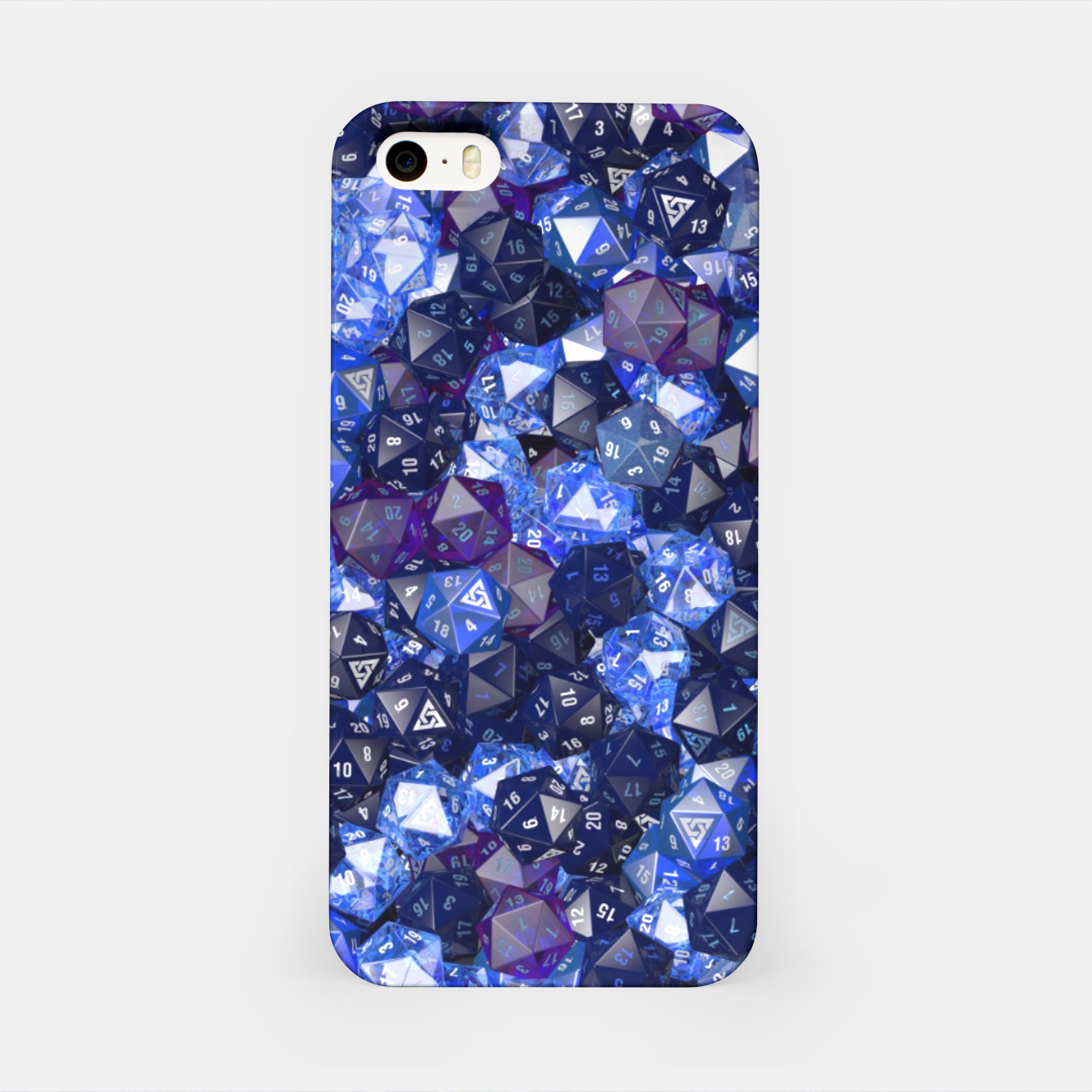 Image of D20 AZURE iPhone Case - Live Heroes