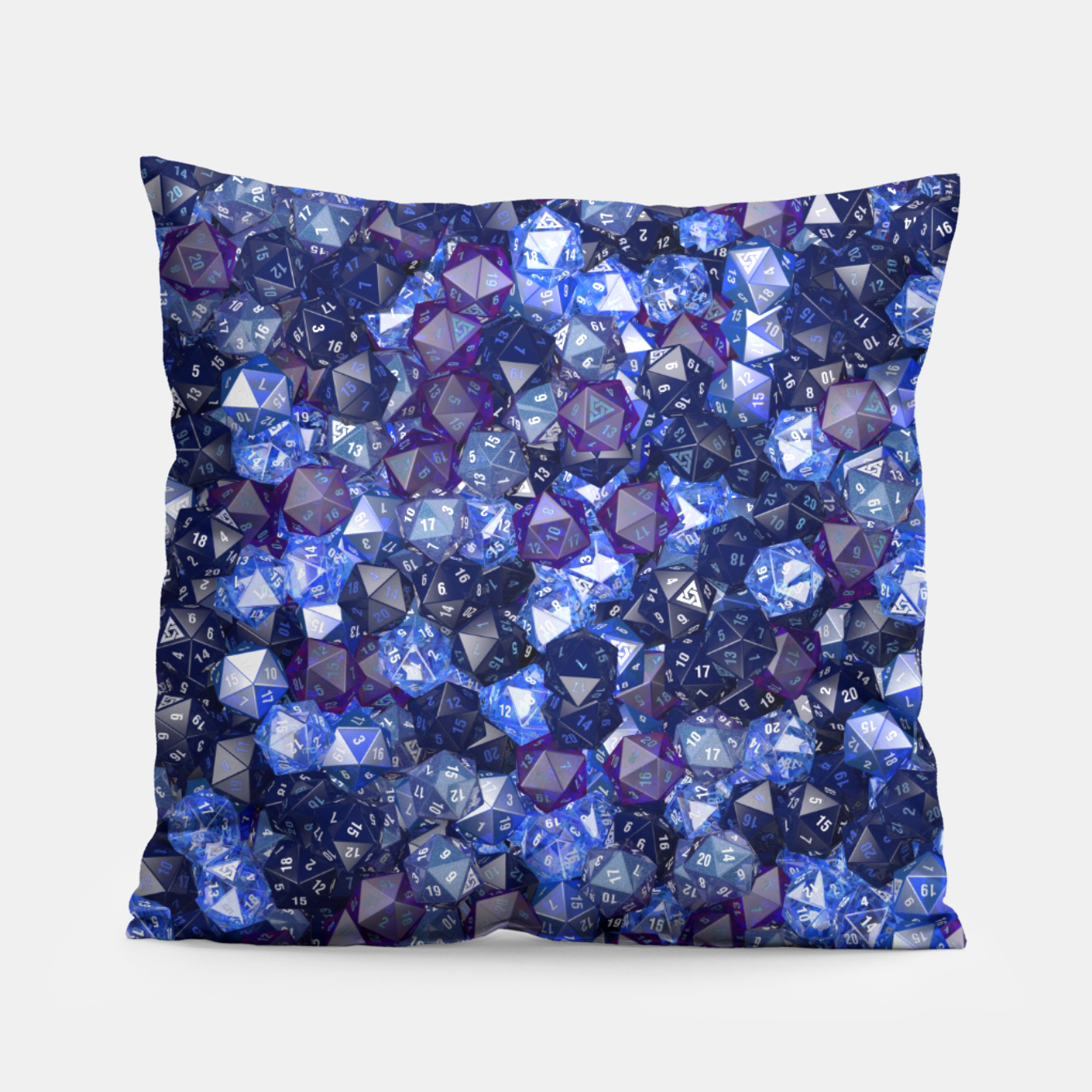 Image of D20 AZURE Pillow - Live Heroes