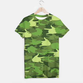 Thumbnail image of Handy Camo GREEN T-shirt, Live Heroes