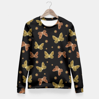 Miniatur Insects Motif Pattern Fitted Waist Sweater, Live Heroes