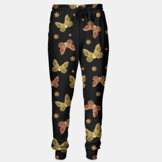 Miniatur Insects Motif Pattern Sweatpants, Live Heroes