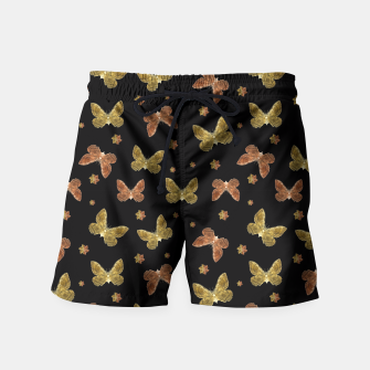 Miniatur Insects Motif Pattern Swim Shorts, Live Heroes
