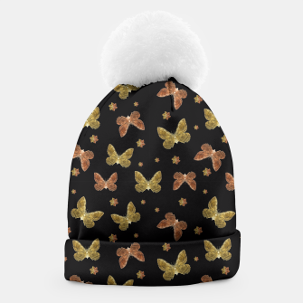 Miniatur Insects Motif Pattern Beanie, Live Heroes