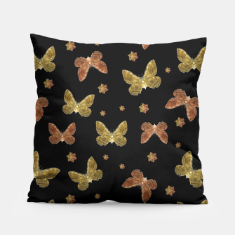 Miniatur Insects Motif Pattern Pillow, Live Heroes