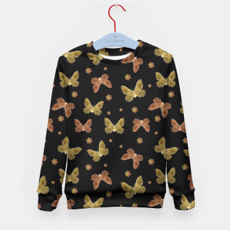 Miniatur Insects Motif Pattern Kid's Sweater, Live Heroes