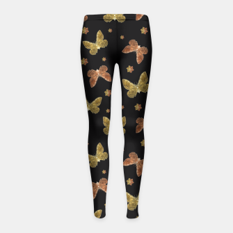 Miniatur Insects Motif Pattern Girl's Leggings, Live Heroes