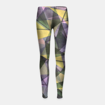 Thumbnail image of triangles Girl's Leggings, Live Heroes