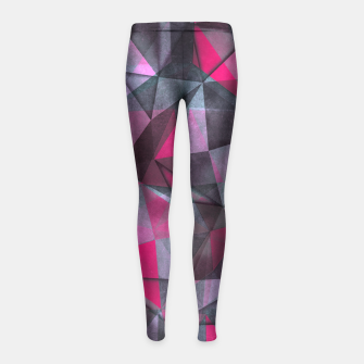 Thumbnail image of black and red Girl's Leggings, Live Heroes