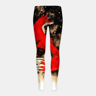 Thumbnail image of Dream of a fox Girl's Leggings, Live Heroes