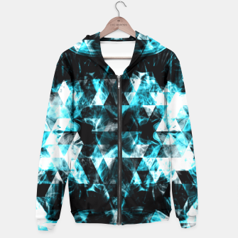 Electrifying blue sparkly triangle flames Hoodie thumbnail image