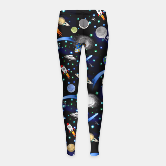Thumbnail image of Galaxy Universe Girl's Leggings, Live Heroes
