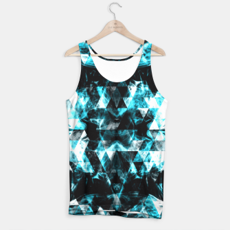 Electrifying blue sparkly triangle flames Tank Top thumbnail image