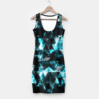 Electrifying blue sparkly triangle flames Simple Dress thumbnail image