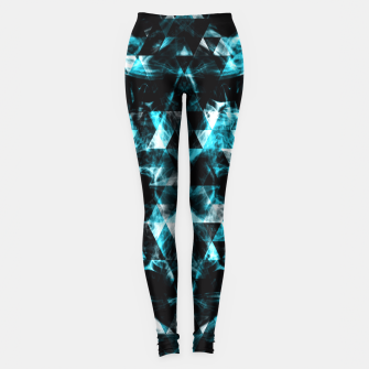 Electrifying blue sparkly triangle flames Leggings thumbnail image