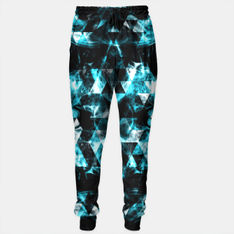 Electrifying blue sparkly triangle flames Sweatpants thumbnail image