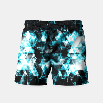 Electrifying blue sparkly triangle flames Swim Shorts thumbnail image