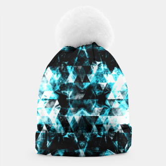 Electrifying blue sparkly triangle flames Beanie thumbnail image