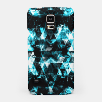 Electrifying blue sparkly triangle flames Samsung Case thumbnail image