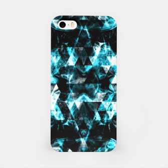 Electrifying blue sparkly triangle flames iPhone Case thumbnail image