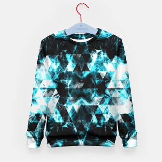Electrifying blue sparkly triangle flames Kid's Sweater thumbnail image