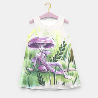 Miniaturka Empire of Mushrooms: Laccaria Amethystina Girl's Summer Dress, Live Heroes