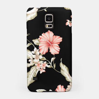 Thumbnail image of Pastel Hibiscus (Blk Bg) Samsung Case, Live Heroes