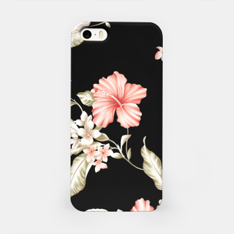 Thumbnail image of Pastel Hibiscus (Blk Bg) iPhone Case, Live Heroes