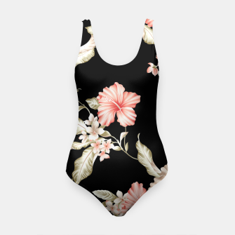 Thumbnail image of Pastel Hibiscus (Blk Bg) Swimsuit, Live Heroes
