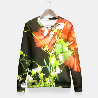 Thumbnail image of floral love Fitted Waist Sweater, Live Heroes