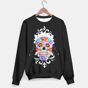 Thumbnail image of Day Of The Dead Sugar Skull Funky Design Sweater regular, Live Heroes