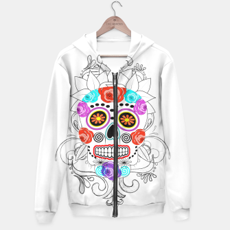 Thumbnail image of Day Of The Dead Sugar Skull Funky Design Hoodie, Live Heroes