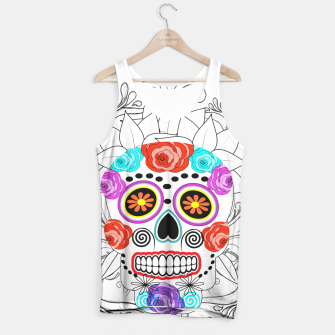 Thumbnail image of Day Of The Dead Sugar Skull Funky Design Tank Top, Live Heroes
