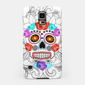 Thumbnail image of Day Of The Dead Sugar Skull Funky Design Samsung Case, Live Heroes