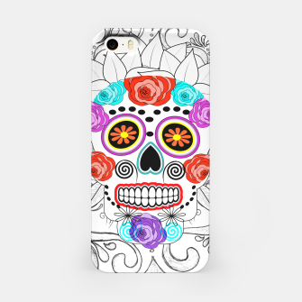 Thumbnail image of Day Of The Dead Sugar Skull Funky Design iPhone Case, Live Heroes