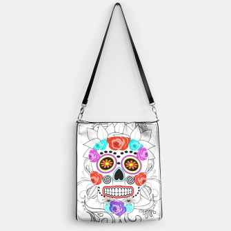 Thumbnail image of Day Of The Dead Sugar Skull Funky Design Handbag, Live Heroes