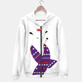 Thumbnail image of Cute Christmas Fun Stag Deer  Hoodie, Live Heroes
