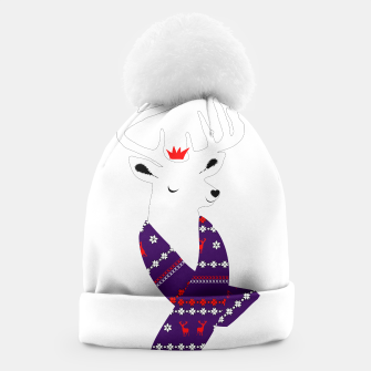 Thumbnail image of Cute Christmas Fun Stag Deer  Beanie, Live Heroes